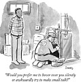 Man Asks Electrician Whether Or Not He Wants To Engage In Small Talk. by Benjamin Schwartz