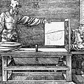 Man Drawing A Lute 1523 by Durer Albrecht