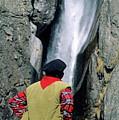 Man Facing A Waterfall by Sami Sarkis