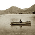 Man In A Row Boat Named Lizzie On Palmer Lake On The Colorado Di by California Views Archives Mr Pat Hathaway Archives