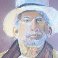Man In A Straw Hat by Deena Greenberg