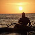 Man In Canoe by Sri Maiava Rusden - Printscapes