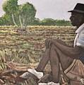 Man In Field Burkina Faso Series by Reb Frost