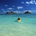 Man In Kayak by Greg Vaughn - Printscapes