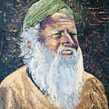 Man In The Green Turban by Arline Wagner