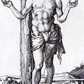 Man Of Sorrows With Hands Raised 1500 by Durer Albrecht