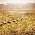 Man On Expedition Along Cradle Mountain Boardwalk by Jorgo Photography - Wall Art Gallery