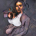 Man Painting Woman by Scott Bowlinger