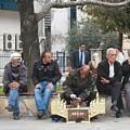Man Polishing Leather Shoes Shoeshine On Street Mugla Turkey by Taiche Acrylic Art