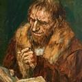 Man Reading 1922 by Gebhardt Eduard von