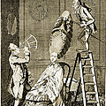 Man Using Sextant On Womans Coiffure by Wellcome Images