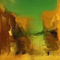 Man Walking Dog by Jim Buchanan