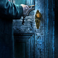 Man With Keys At Door by Jill Battaglia