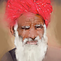Man With Red Headwrap by Scott Bowlinger