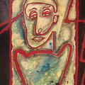 Man With Red Outline  by W  Todd Durrance