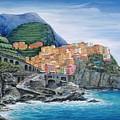 Manarola Cinque Terre Italy by Marilyn Dunlap