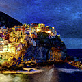 Manarola Night Cinque Terre by Weston Westmoreland