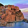 Manarola Rainbow Of Colors by Frozen in Time Fine Art Photography