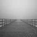 Manatee Beach Pier In Fog Infrared 39 by Rolf Bertram