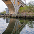 Manayunk Canal Bridge Reflection by Bill Cannon