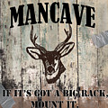 Mancave Deer Rack by Mindy Sommers