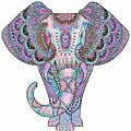 Mandala Elephant Indigo by Aye