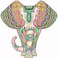 Mandala Elephant Psicodelic by Aye