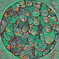 Mandala In Green by Megan Walsh