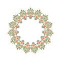 Mandala/photoart Orange Flowers-1 by Becky Hayes