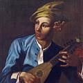 Mandolin Player by Attributed to Giacomo Francesco Cipper