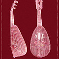 Mandolin Red Musical Instrument by Sandra McGinley