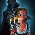 Manga Vampire And Woman Horror by Martin Davey