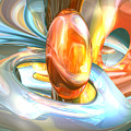 Mango And Cream Abstract by Alexander Butler