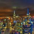Manhattan At Night 355 by Jeff Stallard