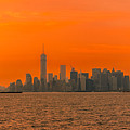 Manhattan At Sunset by Michael Goodin
