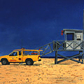 Manhattan Beach Lifeguard Station Side by Lance Headlee