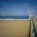 Manhattan Beach Pier Back Then by David Zanzinger