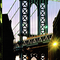 Manhattan Bridge And Empire State Building by Mark Ivins