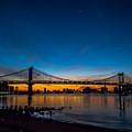 Manhattan Bridge At Dawn by James Aiken
