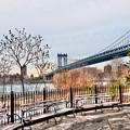 Manhattan Bridge From Brooklyn Bridge Park by Randy Aveille
