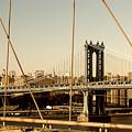 Manhattan Bridge From The Brooklyn Bridge  by Alissa Beth Photography