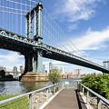 Manhattan Bridge In New York by Didier Marti