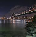 Manhattan Bridge Twinkles At Dusk by Alissa Beth Photography