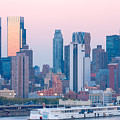 Manhattan Cruise Terminal And Skyline by Clarence Holmes