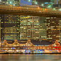 Manhattan Night Skyline I by Clarence Holmes