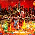 Manhattan Red by Mark Kazav