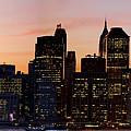 Manhattan Skyline At Dusk From Brooklyn Heights by Carlos Alkmin