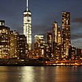 Manhattan Skyline At Night - Panorama by Nathan Rupert