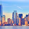 Manhattan Skyline by Lutz Baar