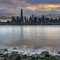 Manhattan Sunrise by Rick Berk